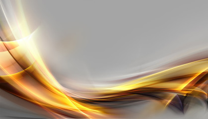 Abstract shine gold fractal composition