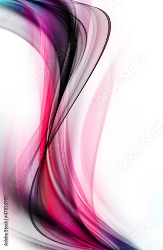Abstract grunge pink fractal wave on white background