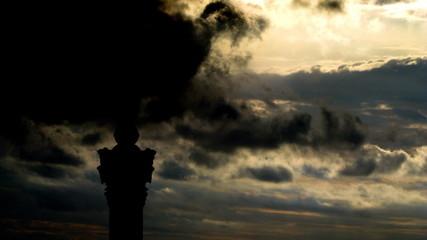 Ukraine Independence monument Kiev sky summoning