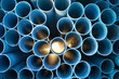 PVC pipes stack