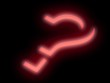 Neon question mark.