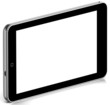 3D Black tablet pc on white