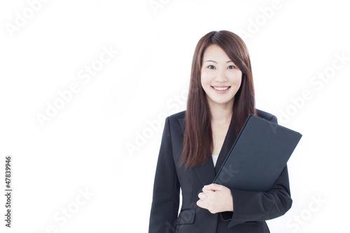 ファイルを持った女性