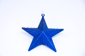Blue christmas star