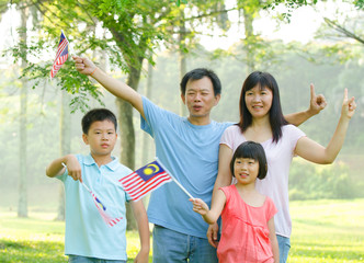 asian family during independence day