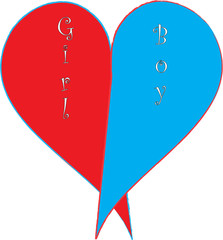 boy and girl heart