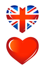 Country UK flag as Heart icon