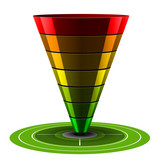 Sales or Conversion Funnel, Vector Web Analytics