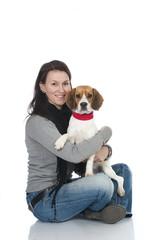 Woman with dog - Frau mit Hund
