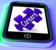 Careers On Smartphone Shows Business Opportunities