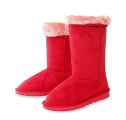 Red winter boots