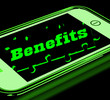 Benefits On Smartphone Showing Messages Bonus