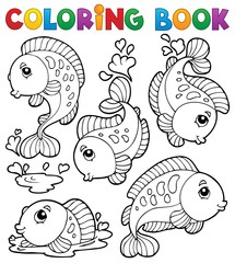 Coloring book with fish theme 1