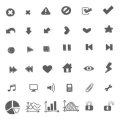 Hand drawn icon set