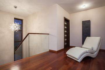 Travertine house - luxurious corridor