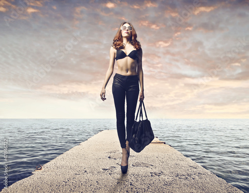 Woman on a Pier