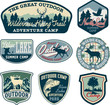 Outdoor Camping Badges