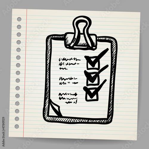Vector illustration of check list on clipboard