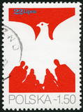 POLAND - 1979: shows Eagle and People