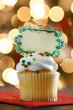 Blank Christmas Cupcake