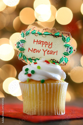 Happy New Year Cupcake