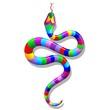 Snake Psychedelic Rainbow-Serpente Arcobaleno Psichedelico