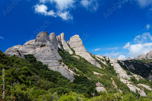 Montserrat is a mountain near Barcelona, in Catalonia