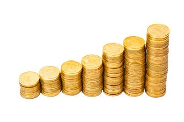 lot of golden coins