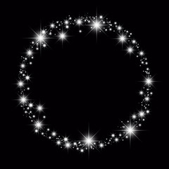 black star circle