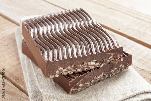 Chocolate with puffed rice