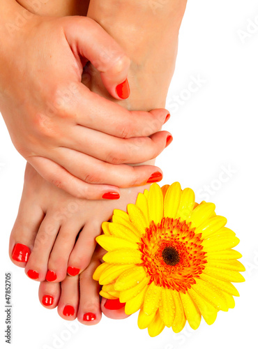 pedicure feet of a young woman