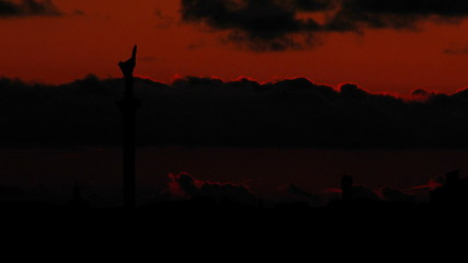 Ukraine Kiev Maidan Nezalezhnosti sunset