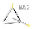An musical triangle on a white background.