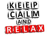 3D Keep Calm And Relax Button Click Here Block Text poster