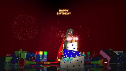 Happy Birthday with T-Rex (Version 1)