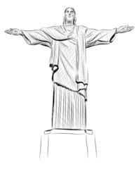 Vector World famous landmark collection :  Christ the Reedemer s