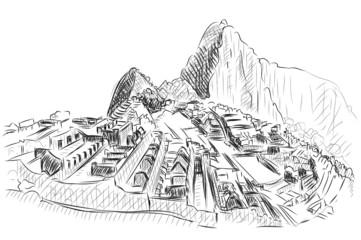 Vector World famous landmark collection : Machu Picchu, Peru