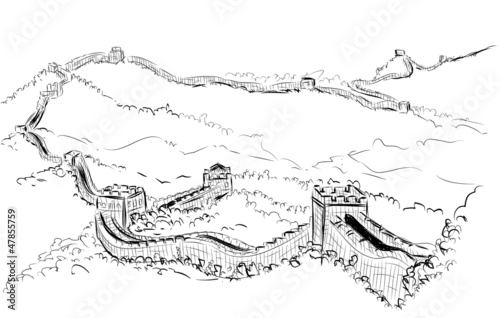 Vector World famous landmark collection : The Great wall, China