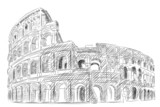 Vector World famous landmark collection :Coliseum, rome, Italy - 47855967