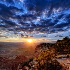 view of Grand Canyon at sunrise