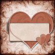 Vintage background with frame and  heart