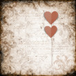 Grunge  background with paper heart