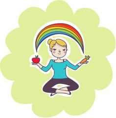 equilibrio e benessere concept