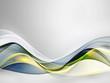 Elegant green and blue light waves