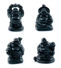 statuette of Chinese god. Netsuke.