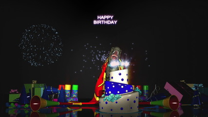 Happy Birthday with T-Rex (Version 2)