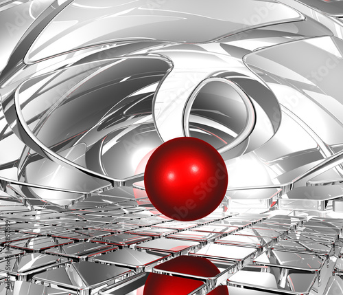 Plakat sphere in abstract space