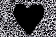 Diamond background with heart shaped space.