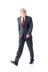 Walking mature business man 2