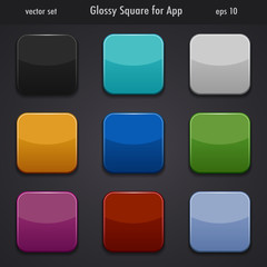 glossy square for app